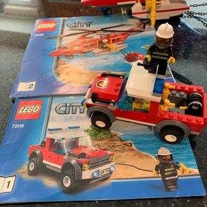 Lego Toys - LEGO 7206 Fire Helicopter